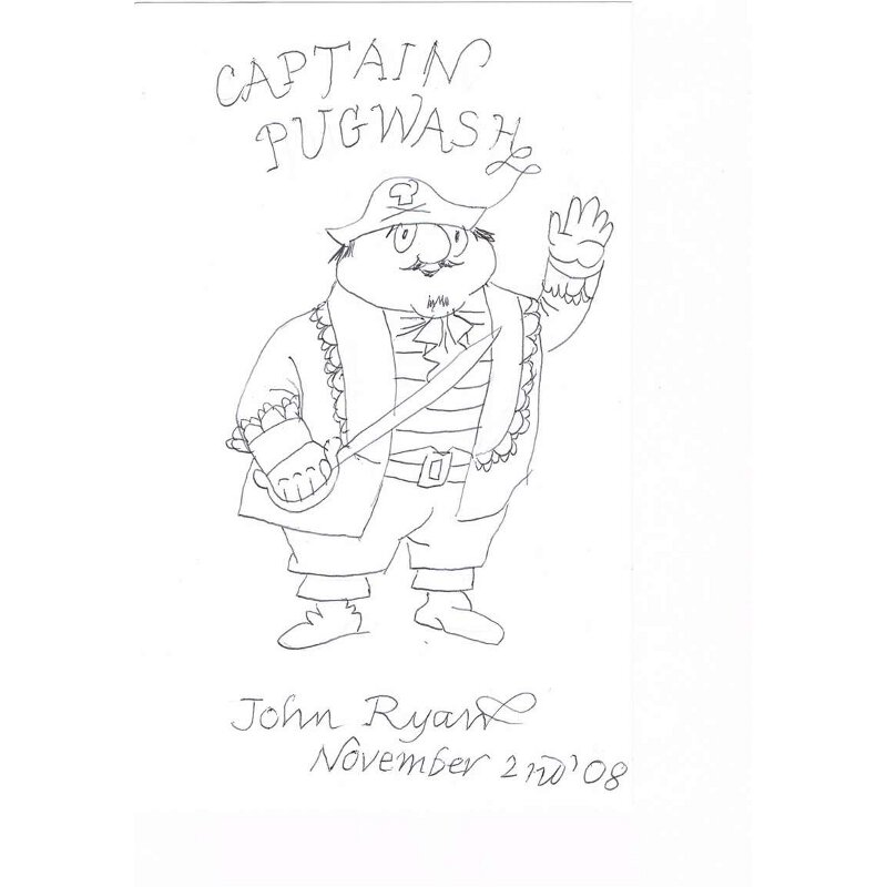 Captain Pugwash Original Drawing