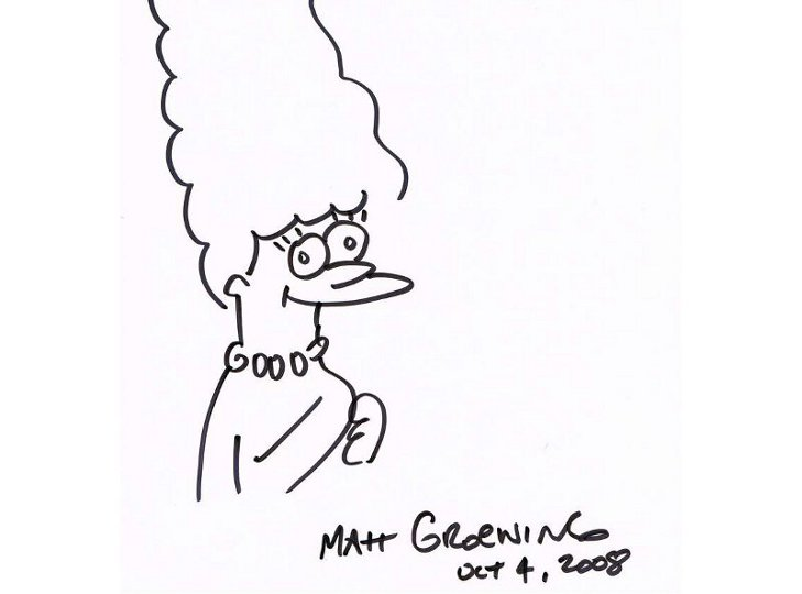 Marge Simpson Original Drawing