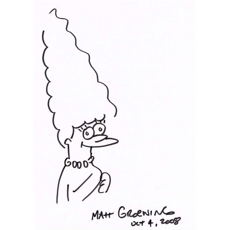 Original Simpsons Drawings Simpson Original Drawing