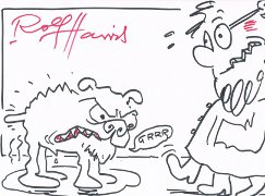 Rolf Harris Original Drawing