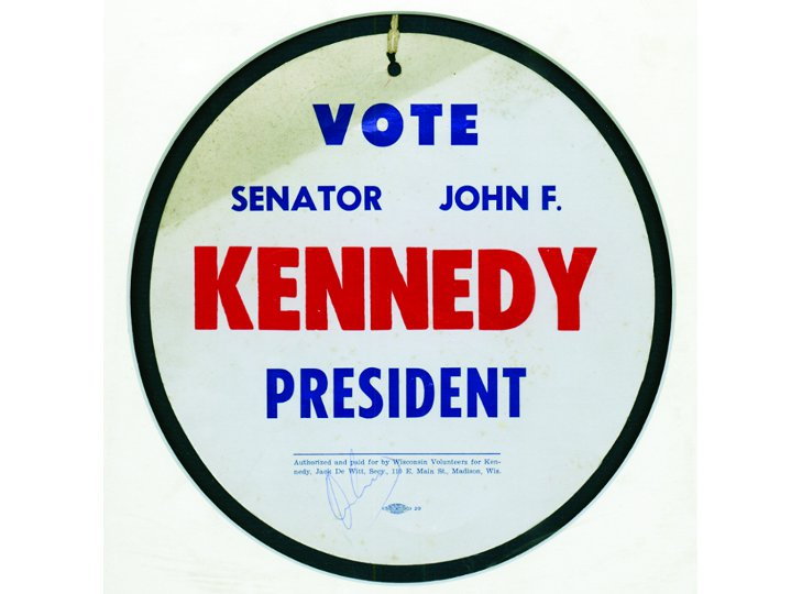 John F Kennedy Campaign Tag