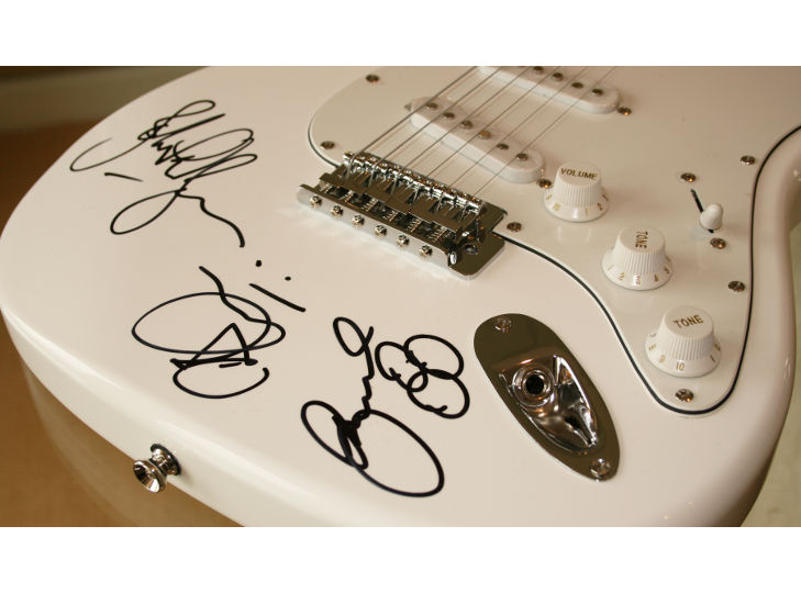 Led Zeppelin Signed Guitar