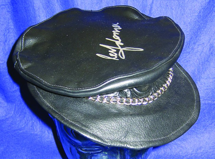 Madonna owned and worn leather cap