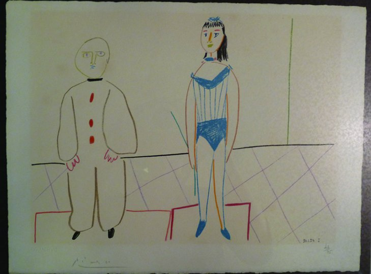 Picasso Autographed Lithograph
