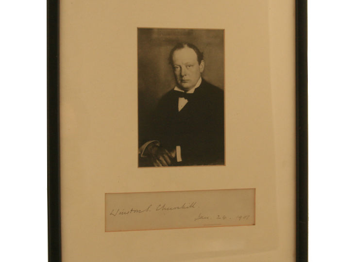 Sir Winston Churchill Autograph