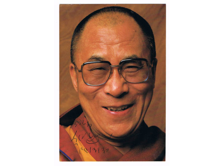 Dalai Lama Signed Photograph