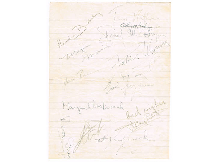 Errol Flynn & Other Autographs