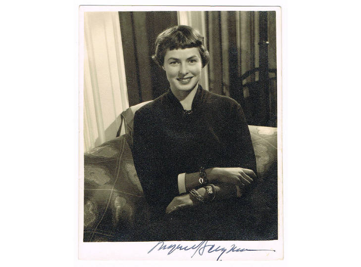Ingrid Bergman Signed Photograph