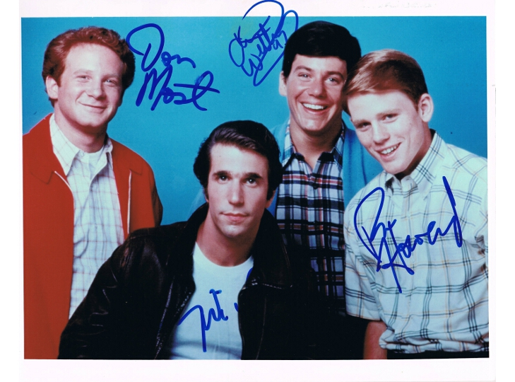 Happy Days Cast Signed Photograph