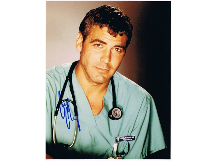 George Clooney Signed ER Photograph